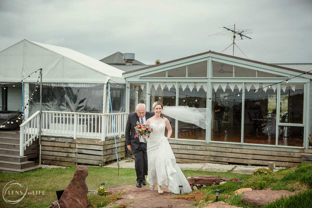 wedding clifftop phillip island
