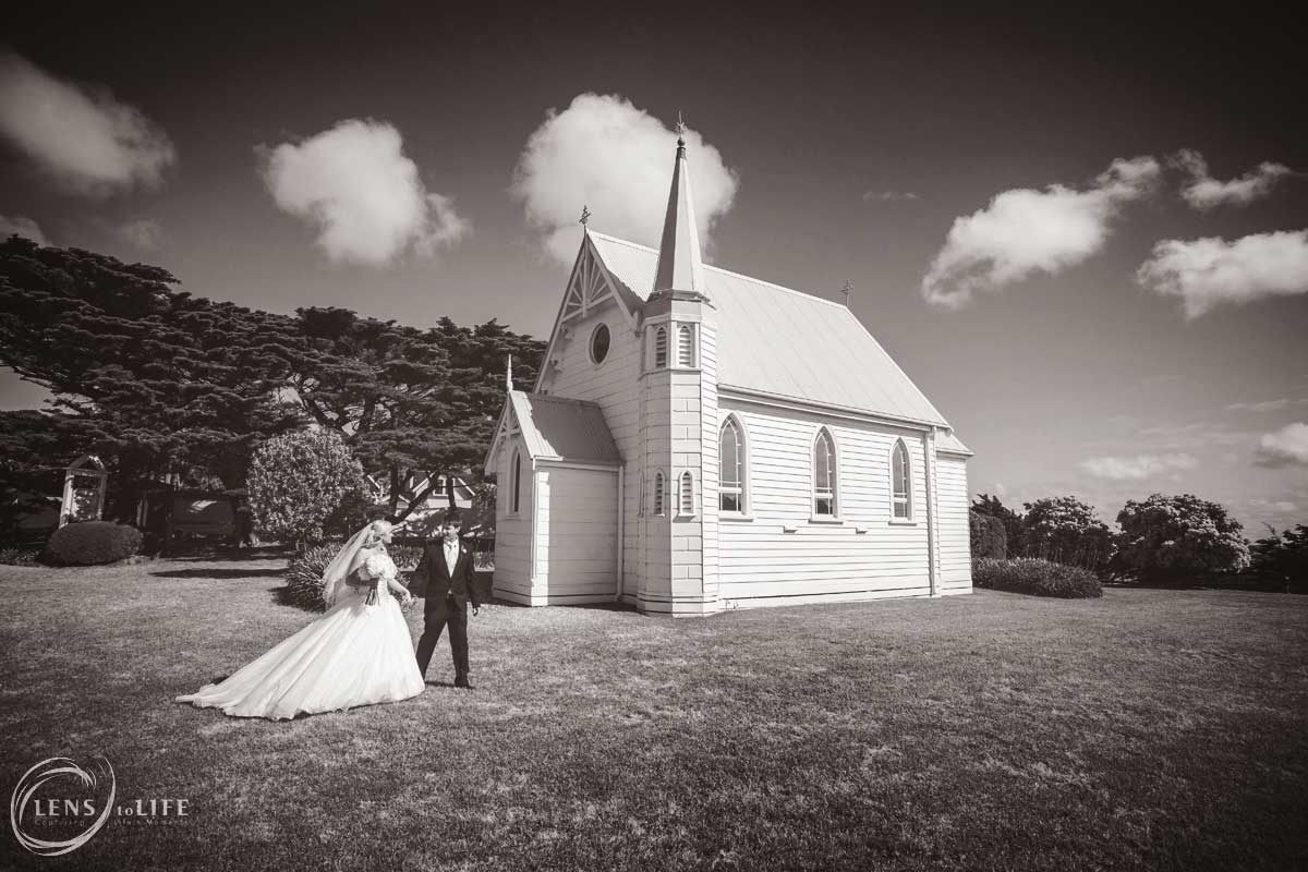 trenavin chapel wedding phillip island