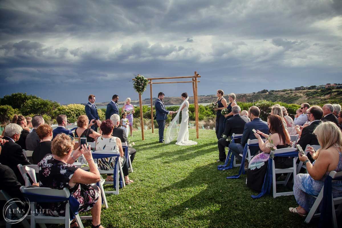 coastal wedding clifftop